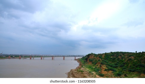 a railway bridge connecting Kanpur city and Jhansi city located at Kalpi city Jalun India