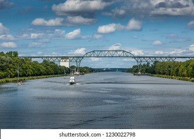 Railway bridge Hochdonn over the Kiel  canal
