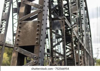 Railway bridge iron.
