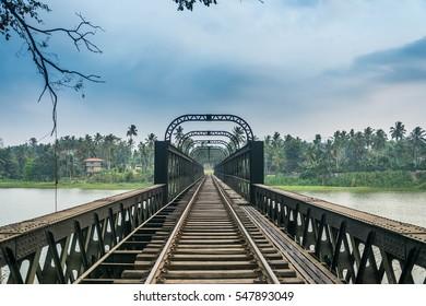 Railway bridge at Katugastota Sri Lanka