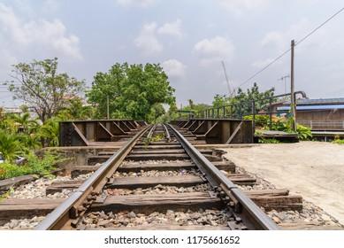 railway bridge over the canal - railroad landscape