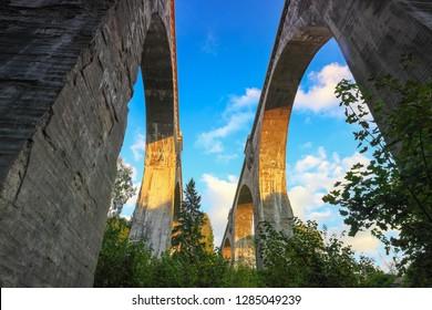railway bridges in Stanczyki in Masuria in Poland