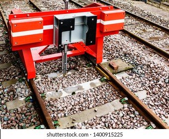 Railway buffers at the newly refurbished station