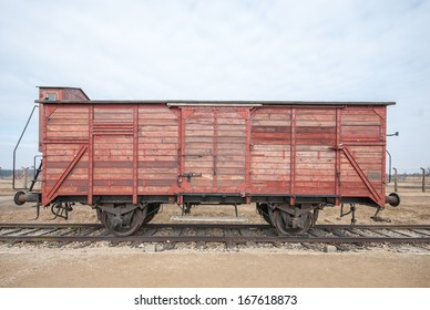 Railway carriage at Auschwitz Camp, Poland