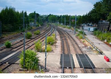 Railway in the city.