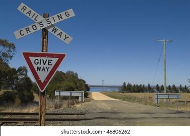 Railway Crossing by the Geelong line