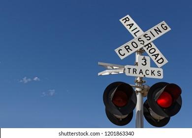 Railway crossing signalization