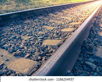 Railway crossing, Railway track.