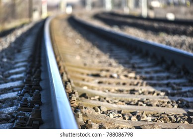 Railway crossing, Train comming, Railway track