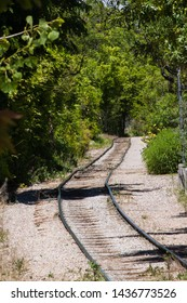 Railway Disappears into the trees near the Historic Route 66