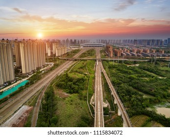 Railway elevated track