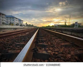 Railway in the evening