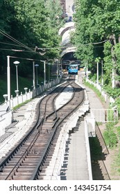 Railway funicular in Kyiv, Ukraine