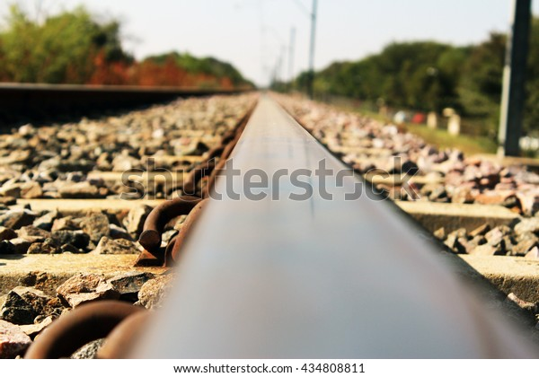 Railway from ground perspective