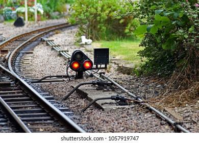 A railway ground signal on the Romney, Hythe and Dymchurch miniature railway