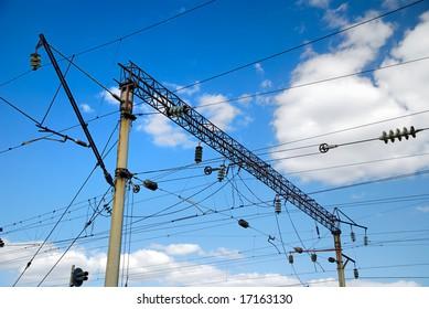 Railway high-voltage line of power supplies