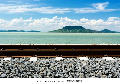 Railway at Lake Balaton, Hungary