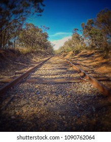 Railway line between Maldon and Castlemaine on the Victorian Goldfields Railway.