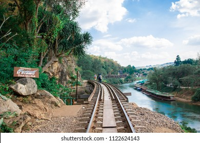 Railway line at the cave 'tham kra sae'