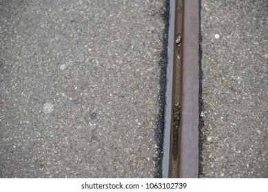 Railway line close up