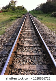 The railway line in Thailand