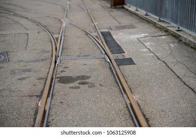 Railway lines close up