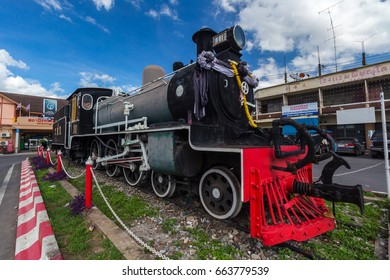 Railway locomotive Attractions at Phitsanulok train station, Thailand. June 18, 2017