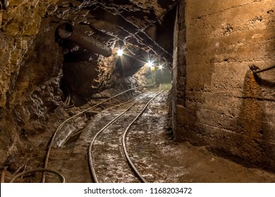 Railway in the  mine