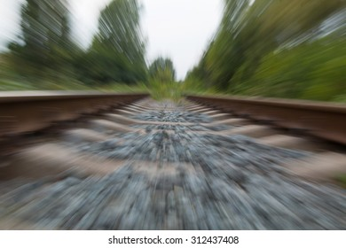 Railway in the motion blur background