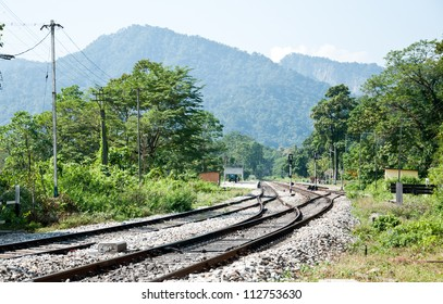 Railway on the way from Kalimpong, Sikkim to Kalkata, India