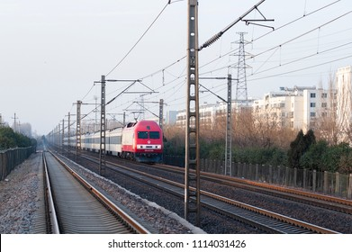 Railway passenger train cars opened