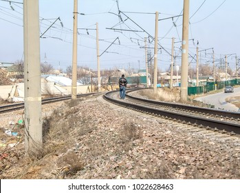 Railway and power poles