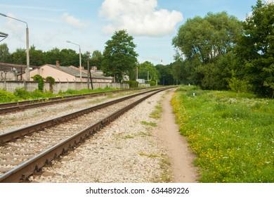 Railway in Riga. Latvia