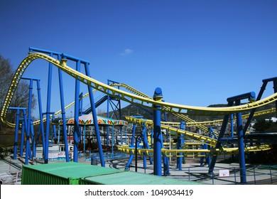 A railway of roller coaster, Seoul, South Korea