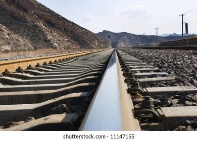 railway shot in Tibet