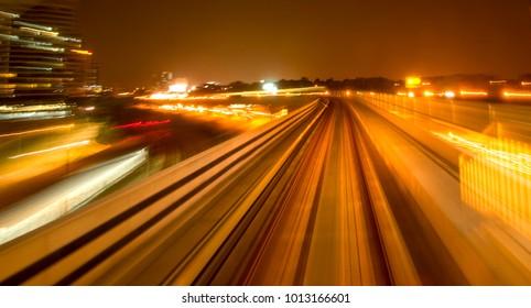 Railway in slow speed motion