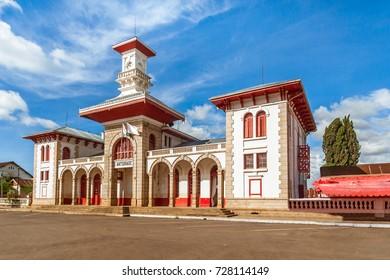 The railway station of Antsirabe, Madagascar highlands