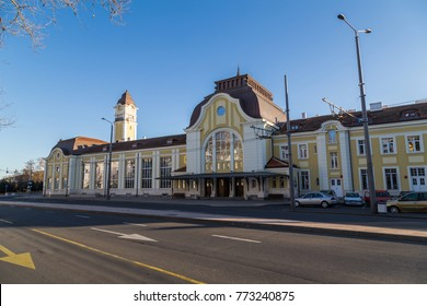 Railway station in the city Burgas, Bulgaria