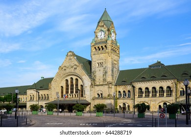 Railway station in the city of Metz, capital of Lorraine, France