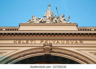Railway station Keleti in Budapest