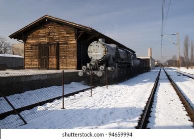 Railway station in Litzmannstadt Ghetto (Lodz, Poland)