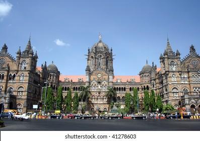 Railway station old building in Mumbai