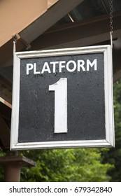 Railway Station Platform One Sign