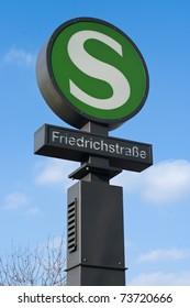 Railway station (S-Bahn) Friedrichstrasse. Berlin.
