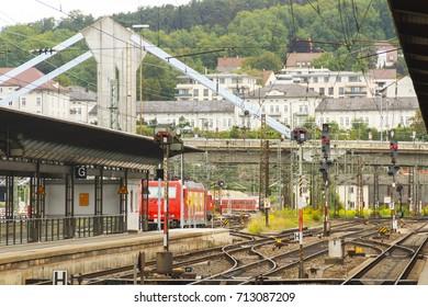 Railway station in Ulm, Germany