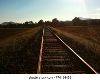 Railway in Sunset