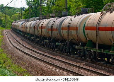 Railway tanks for mineral oil and other cargoes.