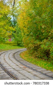 railway track in autumn
