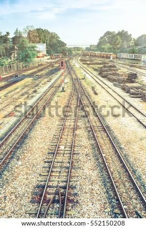 railway track background stock photo edit now 552150208 shutterstock