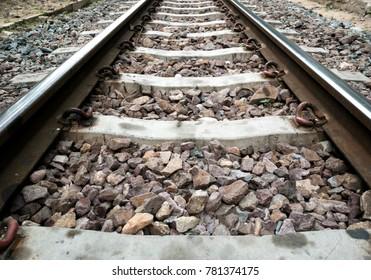 Railway Track Close up